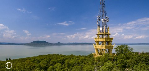 Virtual tour of Lake Balaton and the surrounding lookout towers